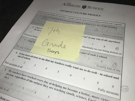 Student culture Survey